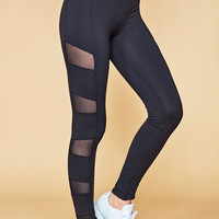 HIGH RISE MESH PANEL POWER LEGGING