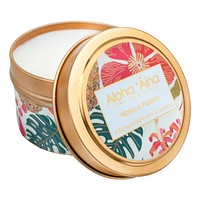 Maui Soap Co. - Hibiscus Passion - Hawaiian Aromatherapy Gold Tin Candle