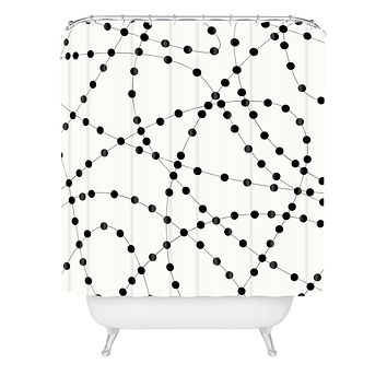 Holli Zollinger Dotted Black Line Shower Curtain