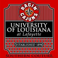 Southern Couture ULL Ragin Cajuns Preppy Logo University of Louisana Lafayette Girlie Bright T Shirt