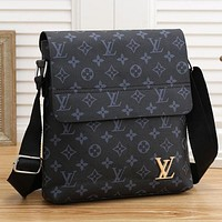 Louis Vuitton LV Office Bag Leather Satchel Shoulder Bag Crossbody