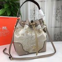 NEW 2019 COACH Women Shopping Leather Tote Handbag Shoulder Bag