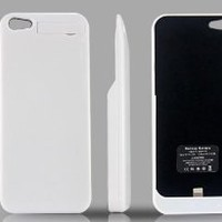 TekuOne iPhone 5 BC2 Rechargeable Extended Battery Case for iPhone 5 - AT&T, Sprint, Verizon (White)