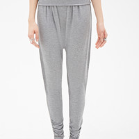 Foldover Heathered Harem Pants