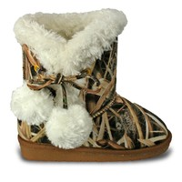Toddlers' Mossy Oak Side Tie Boots - SG Blades (Special Offer)