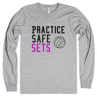 Volleyball Setters-Unisex Heather Grey T-Shirt
