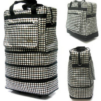 Large Capacity Three Collapsible Layered Spinner Wheeled Luggage Bag