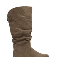 Places 2 Go Slouchy Faux Leather Boots