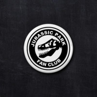 Jurassic Park fan club button
