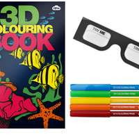 3D COLORING BOOK & MARKERS