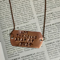 Hamilton The Musical My Shot Stamped Id Necklace