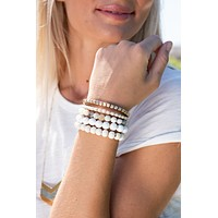 Ride The Wave Natural Stone Beaded Bracelet Set : Natural