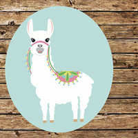 Llama Decal, Lllama Sticker, Tumbler Decal, Printed Decal, Alpaca Decal, Llama Sticker