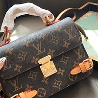 LV Vintage Presbyopia Square Box Saddle Bag Crossbody Bag