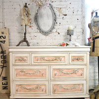 Reserve JeanettePainted Cottage Chic Shabby Romantic French Dresser LGDR24