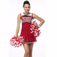 New Baseball Cheerleading Glee Cheerleader Costume Aerobics Clothing Uniforms for Performances Halloween Fancy Dress Size S -L