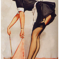 Sexy Maid Pin-up Girl Poster 11x17