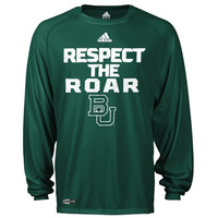 Baylor Bears adidas Sideline Swagger Long Sleeve Performance T-Shirt - Green