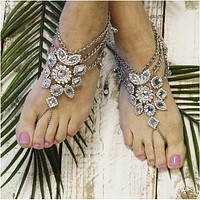 GYPSY SOLE  barefoot sandals - antique silver