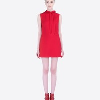 Valentino Online Boutique - Valentino Women Red Dress In Crepe Couture