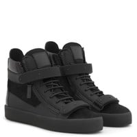 Giuseppe Zanotti Gz Coby Black Calf Hair High-top Sneaker - Best Deal Online