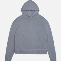 Oversized Cropped Hoodie / Navy
