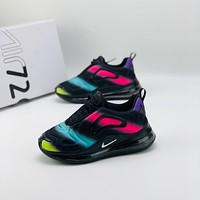Nike Air Max 720 Toddler Kid Running Shoes Black Multi Colors Child Sneakers - Perfectgoodssale