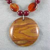 Down Under - Pilbara Hill jasper pendant necklace