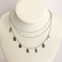 Gone With The Wind Silver Layered Necklace