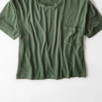 AEO Women's Don't Ask Why Boxy Pocket T-shirt