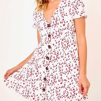 olivaceous - cherry play dress - white