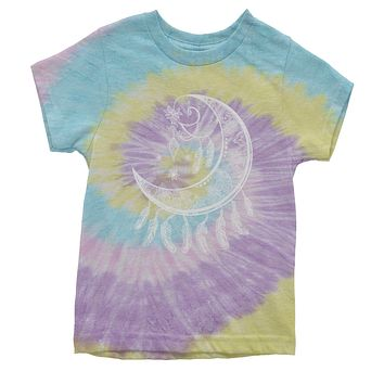 Moon Dream Catcher Youth Tie-Dye T-shirt