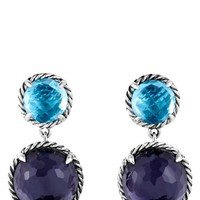 Women's David Yurman 'Chatelaine' Double Drop Earrings with Black Orchid and Blue Topaz - Black Orchid