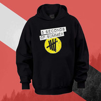 5SOS logo Hoodie Sweatshirt Sweater Shirt black white and beauty variant color Unisex size