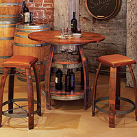 Barrel Stave Bistro Table - Dining Tables - Dining Room - Furniture - NapaStyle
