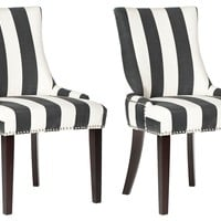 Charcoal Lester Dining Chairs, Pair, Side Chairs