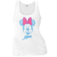 Mickey Mouse - Glitter Minnie Juniors Tank Top