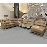Electric Recliner Leather Sofa Couch