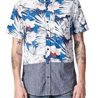 O'Neill Stained Horizon Short Sleeve Woven Shirt - Mens Shirts - Blue
