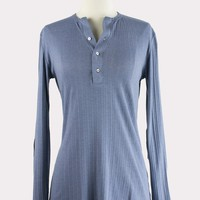 Pointelle Elbow Patch Henley