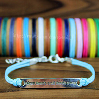 """Discount 50% -  Handmade bracelet """"where there is a will there is a way"""", encourage everyone to the bracelet, the best gift"""