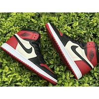 Air Jordan 1 AJ1 Bred Toe Basketball Shoes 36-47