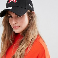 New Era 9Forty Cap with Minnie Mouse Bow at asos.com