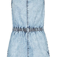 Tall MOTO Acid Denim Playsuit - New In This Week  - New In