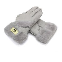 UGG fur gloves warm winter fashion new style Grey