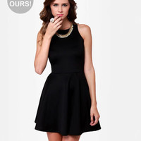 Cute Racer Back Dress - Little Black Dress - Skater Dress