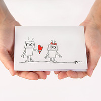 Valentine Card Anniversary Card I Love You Card  by JulieAnnArt