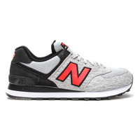 "New Balance - 574 ""Sweatshirt"" (Grey/Black/Orange)"