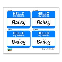 Bailey Hello My Name Is - Sheet of 4 Stickers
