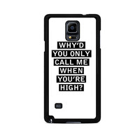 Personalised AM song lyrics Samsung Galaxy Note 3 Case
